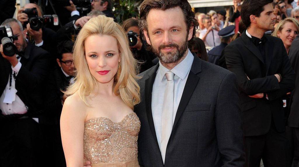 Rachel with boyfriend Michael Sheen