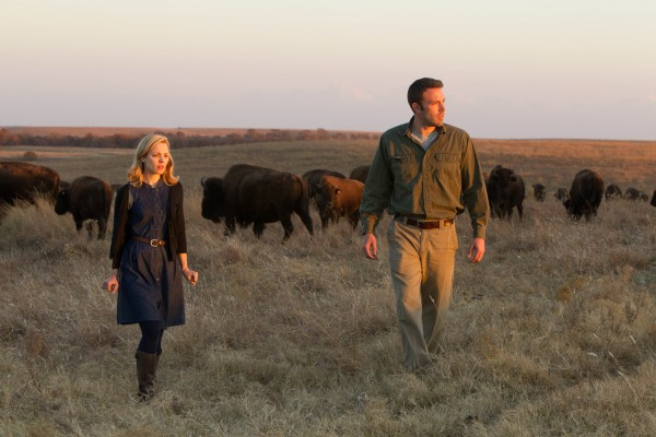 Rachel McAdams, battling her horse hair allergy, and co-star Ben Affleck in a scene from To The Wonder (2012).