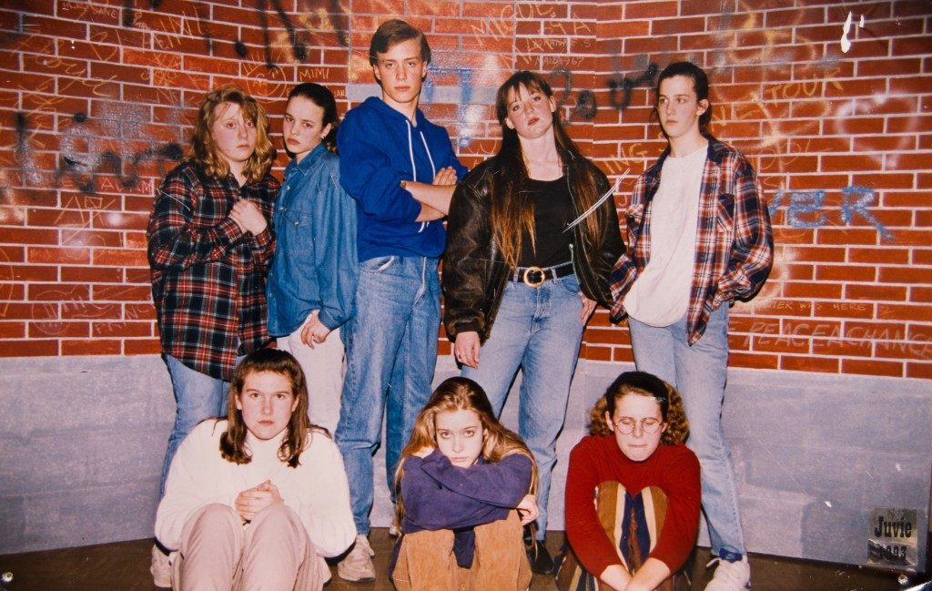 The Original Kids Theatre Company crew from '95, with Rachel standing second from the left.